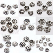200pcs Tibet Silver Metal Silver Plated Spacer Bead Caps Jewelry Findings 6-9mm