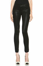 NWT $244 J Brand 485 Mid-rise Coated Black Luxe Sateen Super Skinny Jeans All Sz