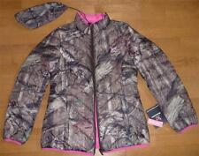 Womens MOSSY OAK Packable Reversible DOWN Jacket Coat Size S M L tree camo pink