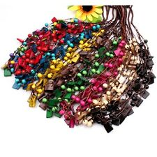 Assorted Handmade Coconut Shell Square Beads Wooden Round Bead Necklace Option