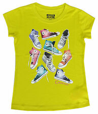 Converse Girls T-Shirt Suplhine Yellow With Converse Boots Motive 8-10Y & 12-13Y