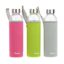 550ml Glass Water Juice Bottle Drinking Filter Infuser Home Outdoor Travelling