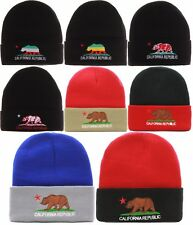 NEW CR California Republic Bear Winter Knit Cuffed Beanie Hat Cap-Various Colors