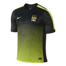 Nike Manchester City Official 2014-15 Elite Soccer Training Jersey Black /Yellow