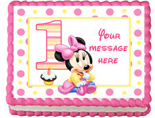 BABY MINNIE MOUSE Edible image Cake topper Decoration