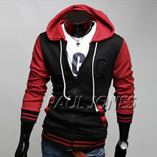 US clearance Mens fashion Jacket Baseball Hoodie Sweatshirts Coat Outerwear Tops