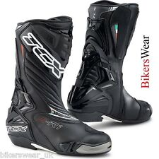 TCX S-R1 Black Tech Breathable Micro Fibre Racing Boots