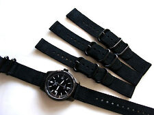 18mm Black 2pc D-Ring NATO g10 UTC PVD Nylon Military watch band strap IW SUISSE