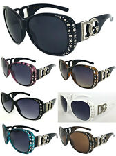 DG Womens Rhinestones Square Sunglasses with FREE Pouch DG172R 8 Color Available