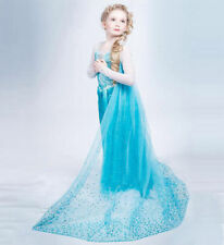 FROZEN ELSA ANNA PRINCESS DRESS KIDS COSTUME PARTY FANCY SNOW QUEEN New