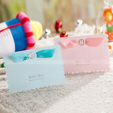 3D Baby Carriages Personalized Baby Shower Invitation Cards and Envelopes, Seals