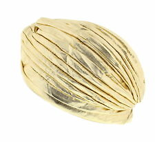 Pleated Vintage Style Metallic Turban - Ideal For Fancy Dress or Fashion