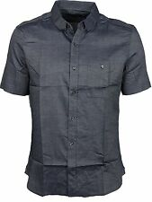 MENS FRENCH CONNECTION 52DOJ IN MARINE BLUE COLOUR SHORT SLEEVE SHIRT ALL SIZES