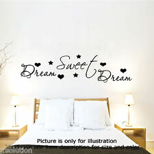 Dream Sweet Dreams Vinyl Art Wall Quote Stickers Wall Decals Removable Art 02