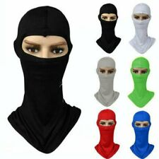 Motorcycle Cycling Ski Outdoor Sport lycra Balaclava Neck Full Face Mask W/ flap