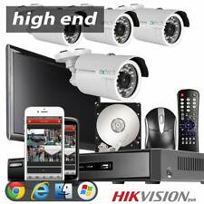 4 1000TVL SONY CMOS Camera 960H 4CH Hikvision DVR Security UK High End CCTV Kit