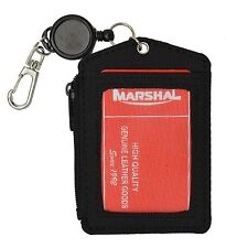 ID Badge Colors Card Holder Wallet Neck Strap Travel Work 2 Sided Pouch