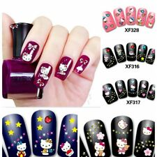 3D Hello Kitty Fingernägel Nagel Sticker Tattoo Aufkleber Nail Art Nagelsticker
