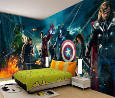 Avengers Marvel Heros Iron Man 3D Full Wall Mural Photo Wallpaper Home Dec Kids