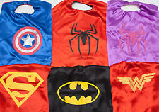Superhero Kids Cape Superman Batman Captain America Girl Wonder Woman Spiderman