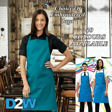 Colours Bib Apron With Pocket. Choice Of 40 Colours. One Size 86cm Long. (PR154)