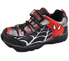 Marvel Toddler Boys Black & Red Spiderman Character Sneakers Shoes 7 8 9 10 11