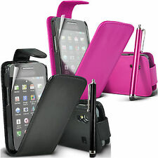 NEW LEATHER FLIP CASE COVER POUCH FOR NEW MAJOR MOBILE PHONES