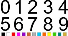 1x Set of Numbers 0 to 9 (5 inches tall) Vinyl Bumper Stickers Decals #a972