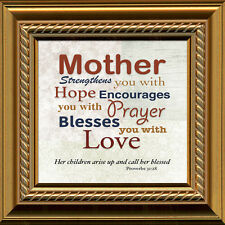 Christian Mom Type Design Framed Gift Love for Mother's Day or any occasion.