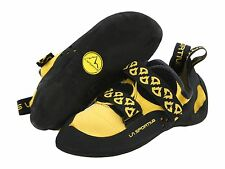 Men's and Womens's La Sportiva Katana Yellow Climbing Shoes Velcro - New In Box!