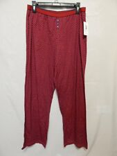 Nautica Seabourne Sleep Pant M  NWT $38.00 Red Skies