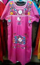 Womens Sizes XS-XXXL Mexican Folklorico Tehuacan Dress Tunic Floral Embroidery
