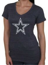 NFL Dallas Cowboys Women's Logo Premier Women's V-Neck - Heather Navy Blue