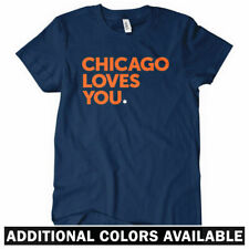 Chicago Loves You Women's T-shirt - Bears Chi-Town Bulls Sox Cubs IL - S to 2XL