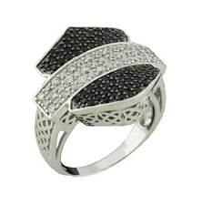 Harley-Davidson Stamper Women's Ring, Crystal Silhouette Bar & Shield, RCR0001