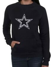 NFL Dallas Cowboys Women's Logo Premier Too Fleece Crew - Navy Blue