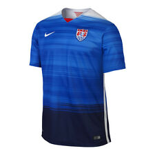 Nike United States USA 2014 - 2015 Away Soccer Jersey New Blue / White / Navy