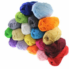 10/20 Pack Double Knitting Wool Crochet Yarn Thick Acrylic 20 Assorted Colours