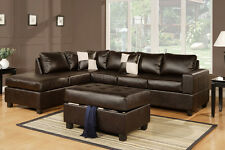 Sectional sofa with free storage ottoman eBay sofa Furniture Living room #F7351