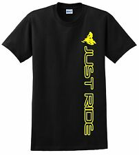 JUST RIDE SNOW MOBILE T SHIRT SLED SNOW MACHINE SKI DOO ARCTIC CAT YAMAHA VERT