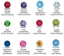4mm Round Crystal Birthstone Charms for Floating Memory Locket