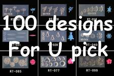 Big Clearance Sale! 3D Acrylic Molds For Nail Art Decoration 100 Designs