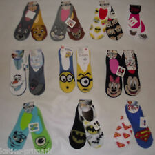 PRIMARK LADIES GIRLS 2 PK MINION DESPICABLE ME INVISIBLE SHOE LINERS SOCKS