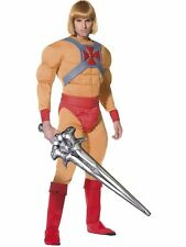 Men's He-Man Masters of Universe Fancy Dress Costume Outfit & Wig Prince Adam