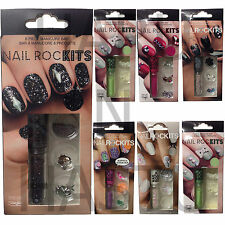 WOMENS NAILS MANICURE SET NAIL ROCKITS GLAMOUR SPARKLE CREATE YOUR OWN NAILS