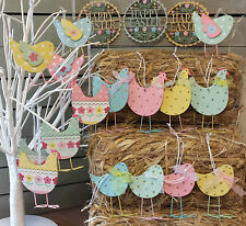 Wooden Easter Decorations Gisela Graham Hanging Hen Chick Tree Decoration