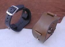 Cow Leather Cuff Watch Strap/Band fit Wire Lug Size10/11/12/13/14/15/16mm #345