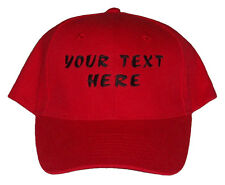 Customised Embroidered Baseball Caps - 8 Colours - Choose Your Own Text & Colour