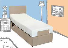 "3FT 6"" ELECTRIC ADJUSTABLE BED - MEMORY FOAM MATTRESS - OPT H/B - 5YR WARRANTY"