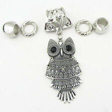 Fashion DIY Necklace Jewelry Scarf Owl pendant set Charms @+6
